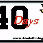 Video – Number 40 & it's meaning – 40 days of answered prayer